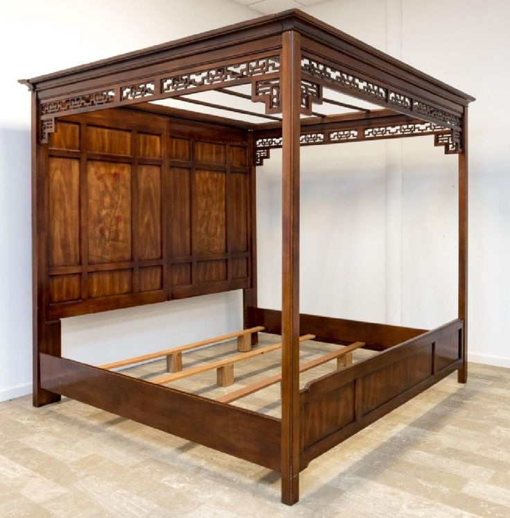 Chinese Style King Size Canopy Bed