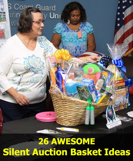 A detailed list of 26 super AWESOME Silent Auction Basket Ideas for your fundraising auctions and events: www.rewarding-fundraising-ideas.com/silent-auction-basket-ideas.html  (Photo by U.S. Army Corps of Engineers Savannah District / Flickr)