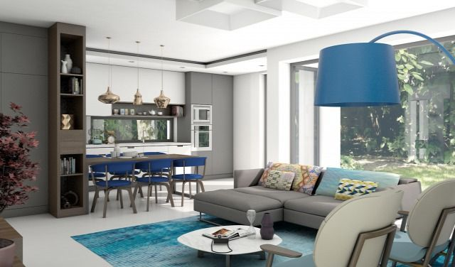 Álomotthonok - Óbudai luxus a kék árnyalataiban