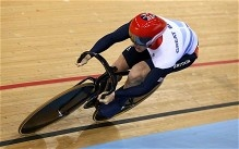 Jason Kenny sets new Olympic record in men's sprint qualifying at London 2012 velodrome