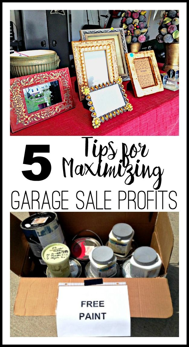 Hosting a garage sale in the coming months? Maximize your profits with these 5 garage sale tips via Refined Rooms blog!