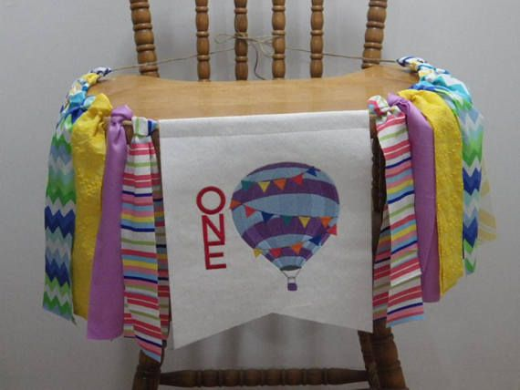 Highchair banner-garland Birthday banner/garland Summer