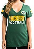Green Bay Packers Green Women's Pride Playing V-neck T-shirt X-Large