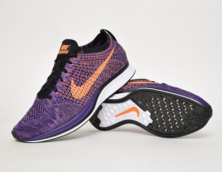 cheaper f25d0 588f8 Nike Flyknit Racer Purple Orange