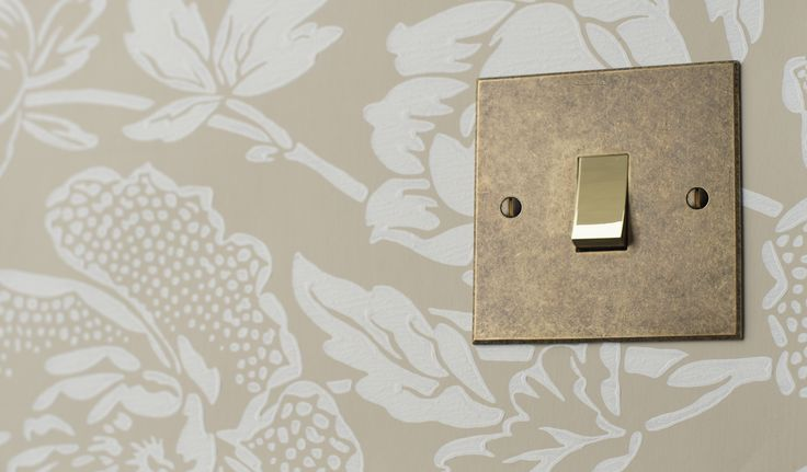 This elegant 1 gang #rocker #switch with bevelled plate and brass switch detail is a perfect #period finishing touch