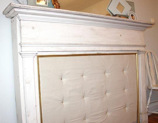 fireplace mantle fun!  head board for bed.    http://www.apartmenttherapy.com/ive-never-thoug-75577