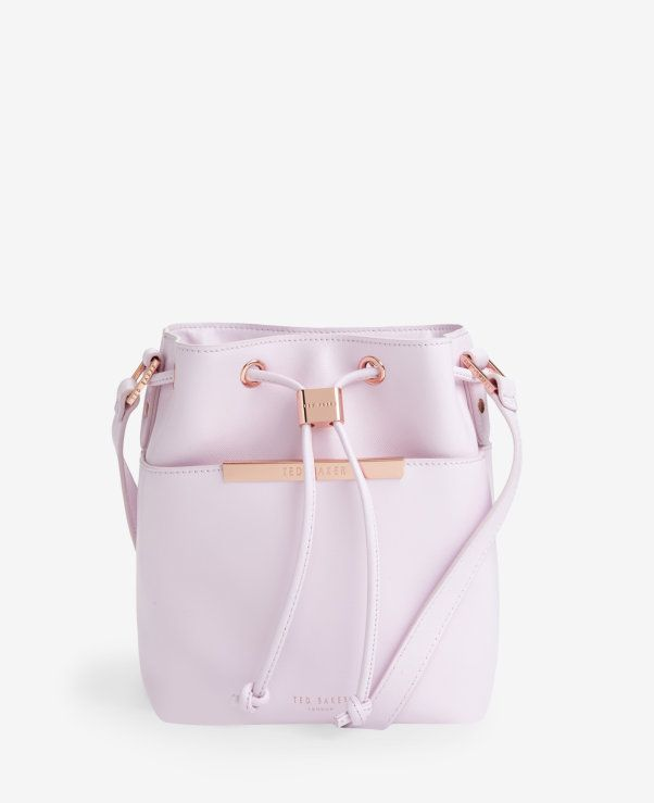 38167c97ebb16 Crosshatch leather mini bucket bag. Ted Baker ...