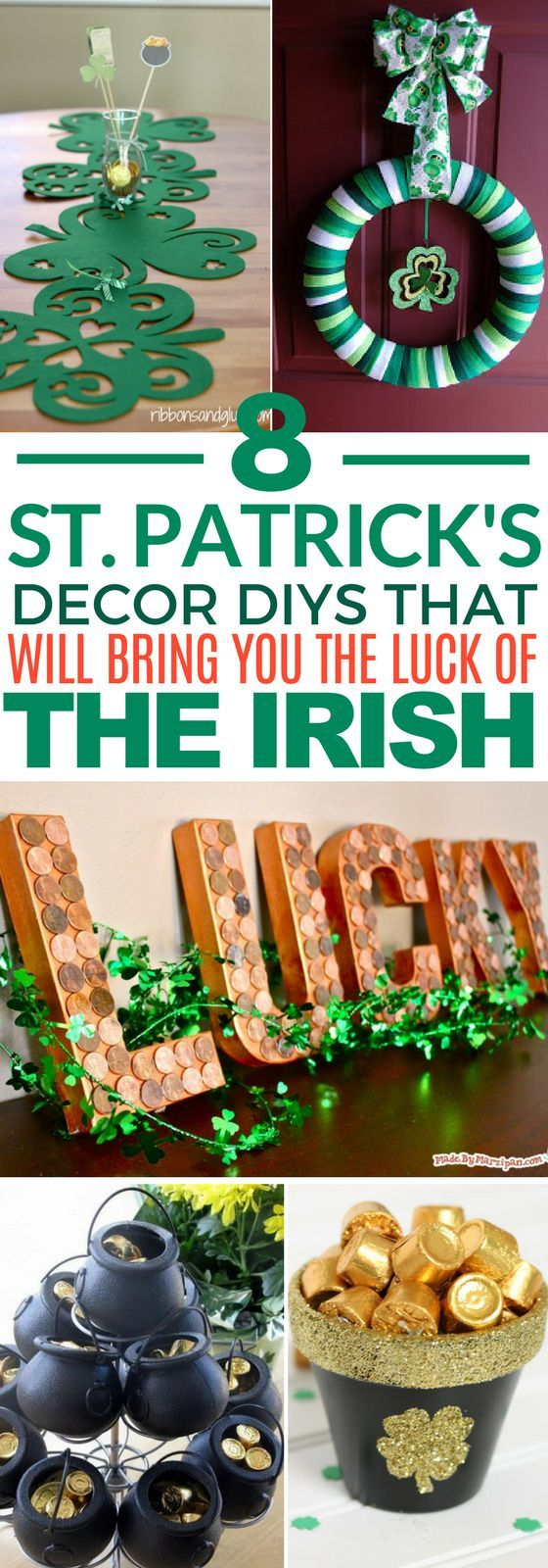 These 8 St. Patrick's Day DIY Decor Ideas Are ADORABLE! If you are looking for a craft to make around St. Patty's Day, try one of these.