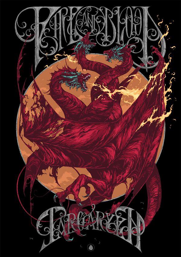 House Targaryen ~ Game of Thrones ~ Illustration by Ivan Belikov