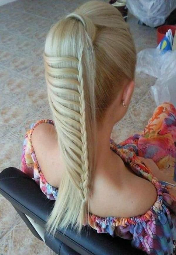 pretty: French Braids, Ponytail Braids, Ladder Braids, Long Hair, Lace Braid, Hairstyle, Hair Style, Cool Braids, Ponies Tail