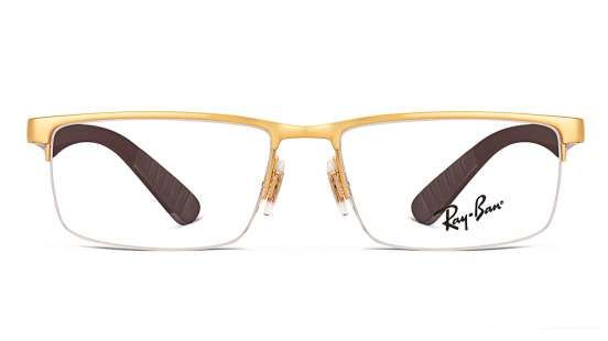 Ray-Ban RX6350 Size: 53 Golden Brown 2730 Eyeglasses