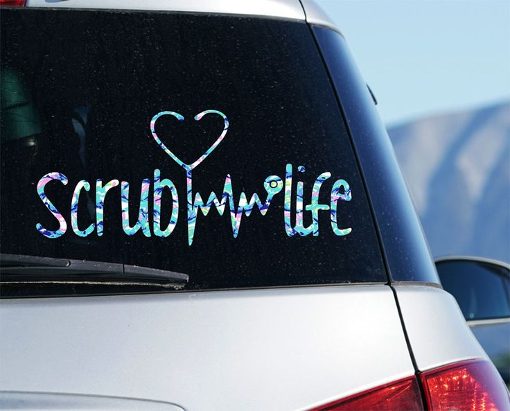 Scrub Life Decal for Car Stickers, Patterned Decal Surgical Tech Decal Gifts, St…