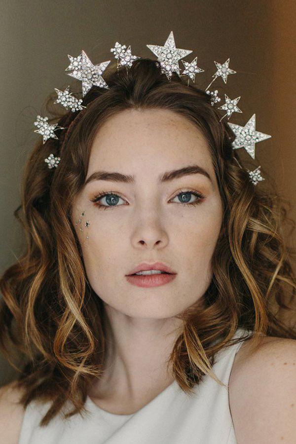 2848e6e161 1920s tiara, star crown, wedding hair accessory - Cosmic Beauty no ...