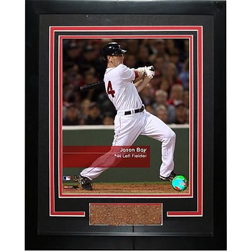 "Steiner Sports MLB Red Sox Jason Bay ""Feel the Game"" Framed Photo with Game Used Dirt"