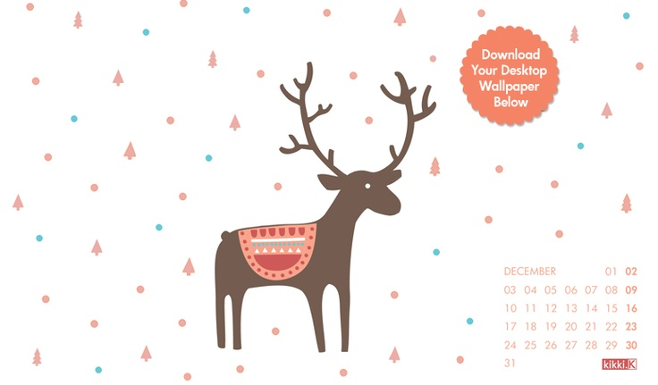 Download this super sweet desktop wallpaper for the month of December featuring our gorgeous kikki.K Hint Helper, Hans.