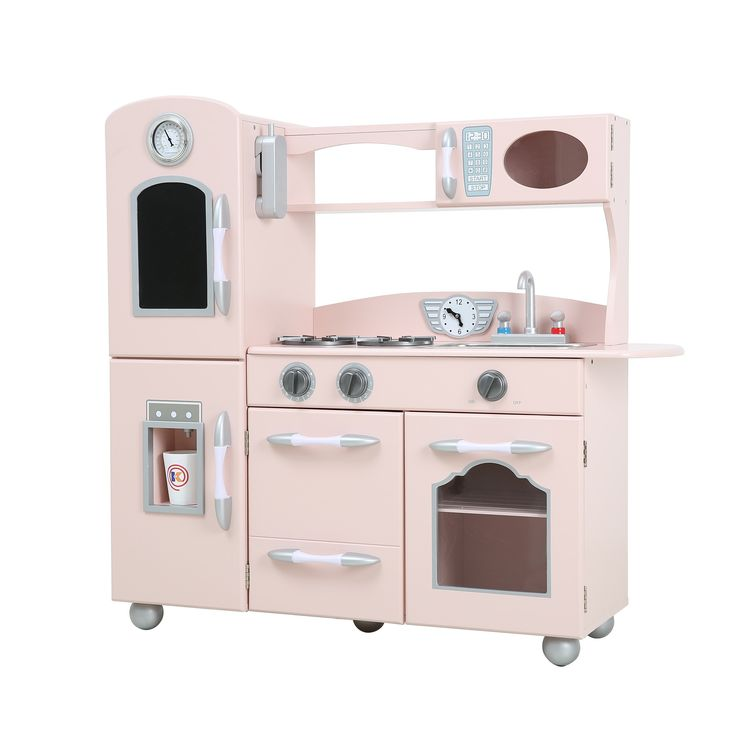 Team Kid Eco-Friendly Wooden Deluxe Play Kitchen SET