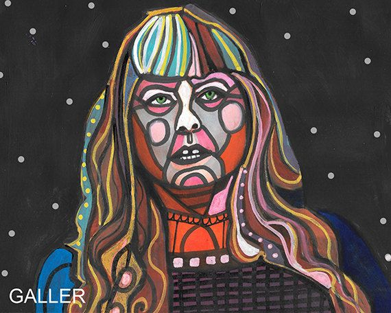 Sue Aikens Original Painting Heather Galler Folk Art - Life Below Zero - National Geographic TV Show