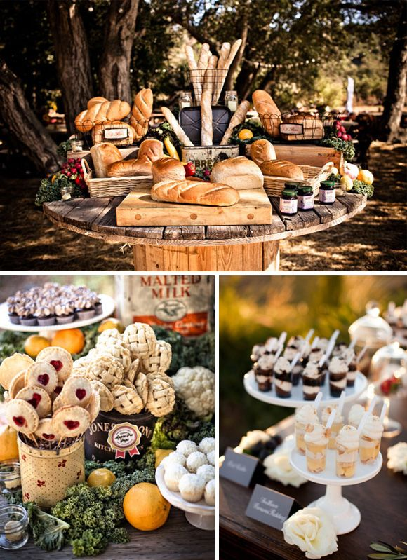 Formas originales presentar comida boda 6 pan dulces cakestand