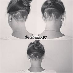 long hair female undercuts - wish i had the balls to try this so cool!!