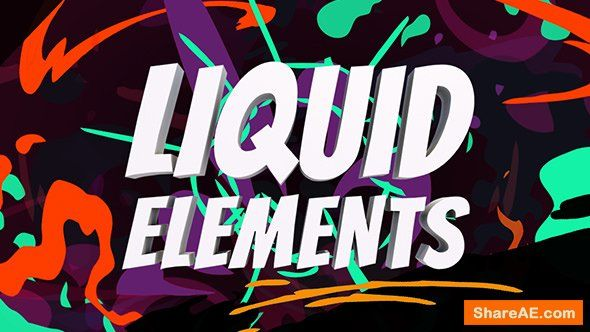 Videohive Liquid Elements After Effects Presets Edicoes