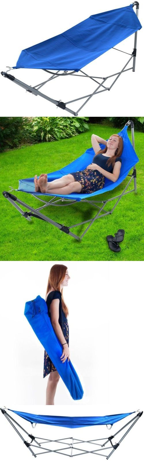 Hammocks 20719: Portable Hammock Frame Stand Carrying Bag Blue Camping Backyard Pool Foldable -> BUY IT NOW ONLY: $49.73 on eBay!