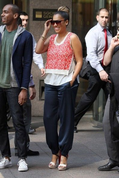 La La Anthony Harem Pants
