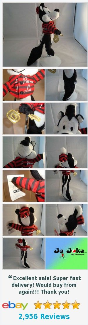 WARNER BROS STORE-PEPE LE PEW-BEAN PLUSH-8 INCH-PRISIONER OF LOVE--NEW/TAGS-1998  | eBay http://www.ebay.com/itm/-/371925861789?