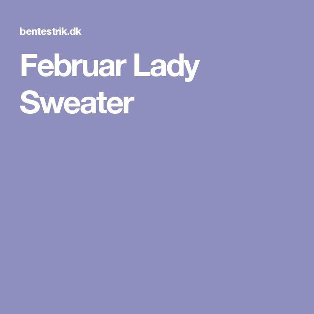 Februar Lady Sweater