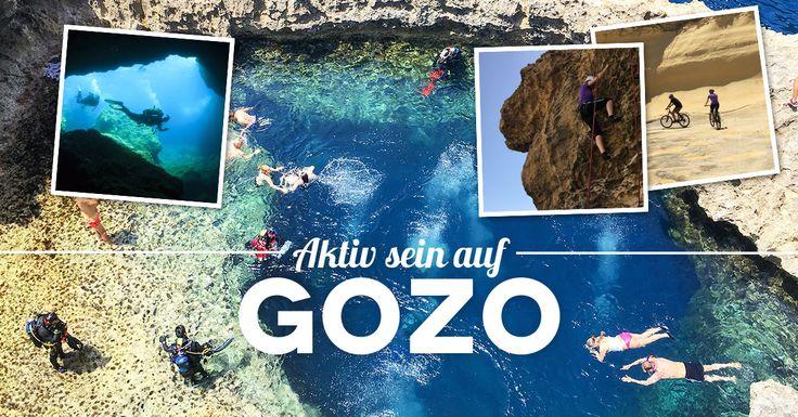 Gozo Tipps: Die 5 besten Outdoor Aktivitäten auf Gozo. Aktiv sein auf Gozo beim Klettern, bei einer Radtour über die Insel, beim Kayaking, Tauchen, Wandern.