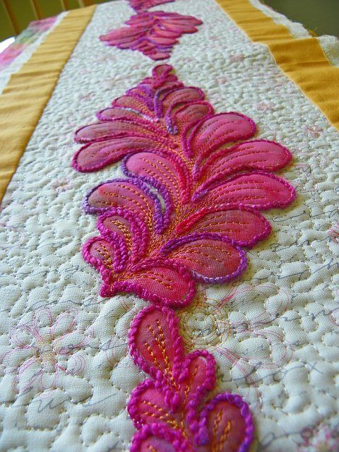24 Best Sewing Yarn Embroidery Images On Pinterest Art Quilting