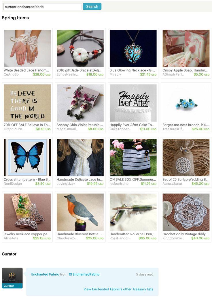 #Spring Items - #Etsy Treasury by #EnchantedFabric