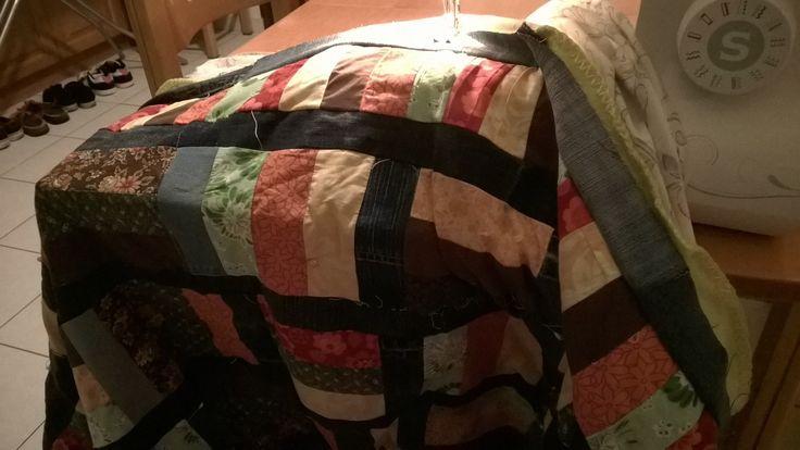 Autumn coloured quilt