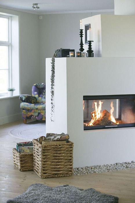 Modern Fireplace Design Get the look with a Cheminees Philippe double sided…