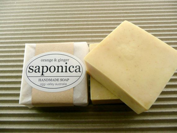 Handmade Natural Orange and Ginger Soap by Saponica by saponica, $6.00