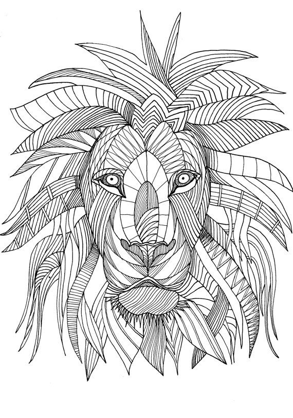Printable Coloring Lion 76 Best Lions Et Tigres Images
