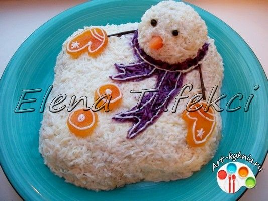 салат растаявший снеговик