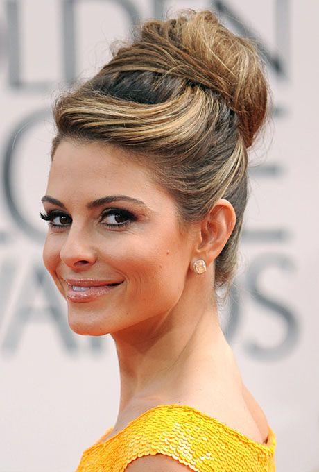 fancy hair | Modern Updo Wedding Hairstyle - Maria Menounos Golden Globes 2012