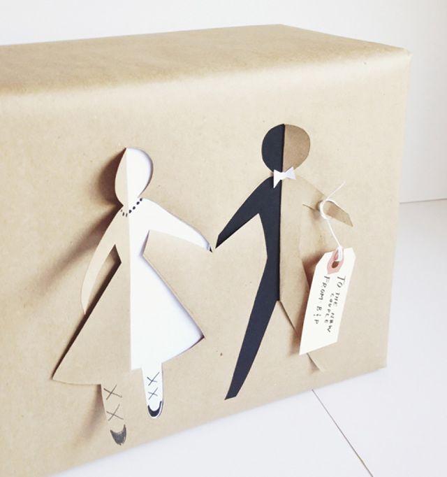 Leuke en originele manieren om het huwelijkscadeau of huwelijksbedankje in te pakken!