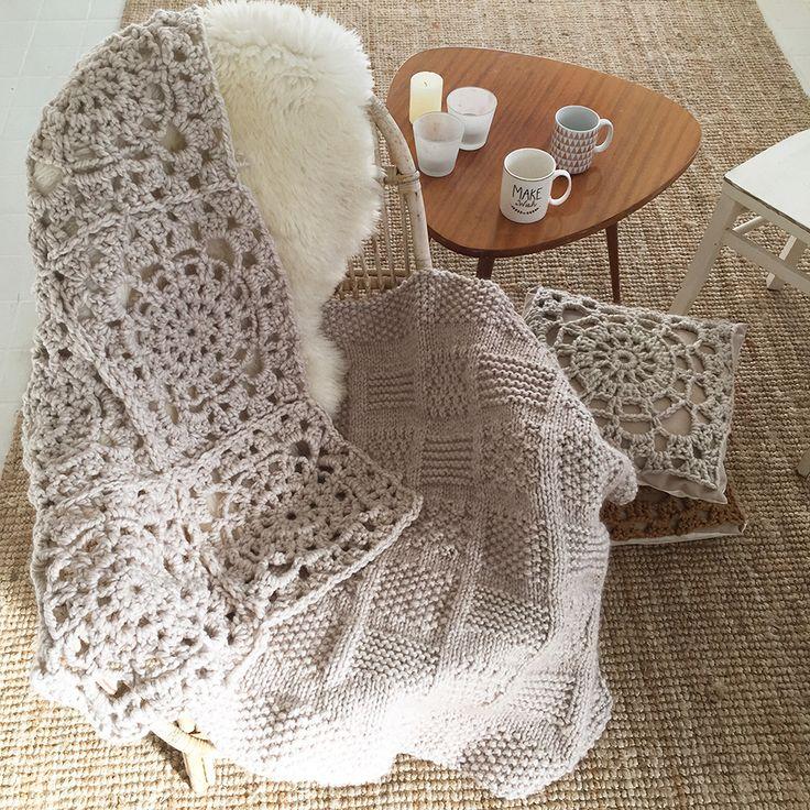 Plaid crochet et tricot900