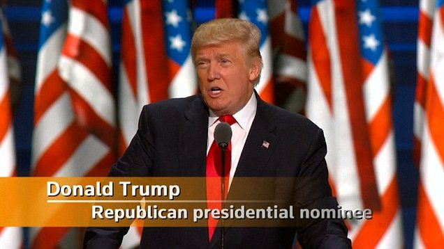 Donald Trump accepts the Republican nomination to become the President of the…