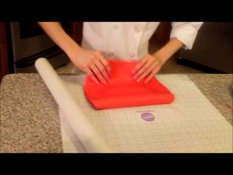 How to Make Marshmallow Fondant, Paint it and Cover a Cake With Fondant - YouTube