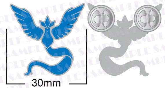 TEAM MYSTIC!  Show your allegiance with this lovely silver and blue pin.  Members of Team Mystic are cool, calm and collected. Using their…