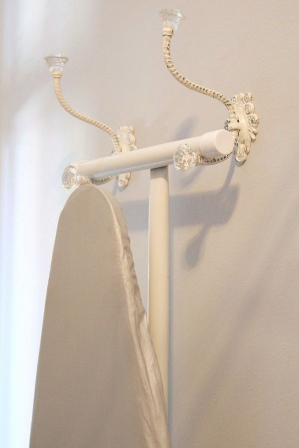 Hang Your Ironing Board on Two Attractive Hooks