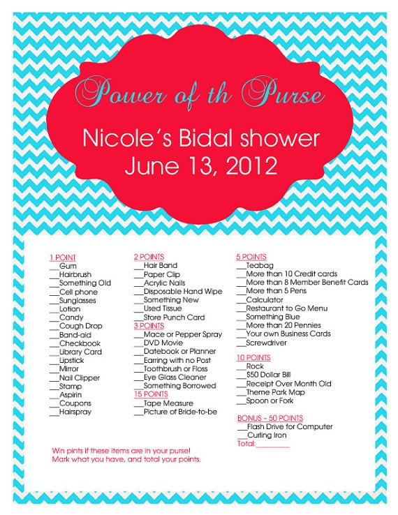 I can make my own - Bridal shower game