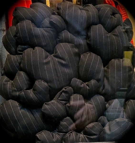 Dark hearts - these are actually part of a chair in a shop window in Milan.