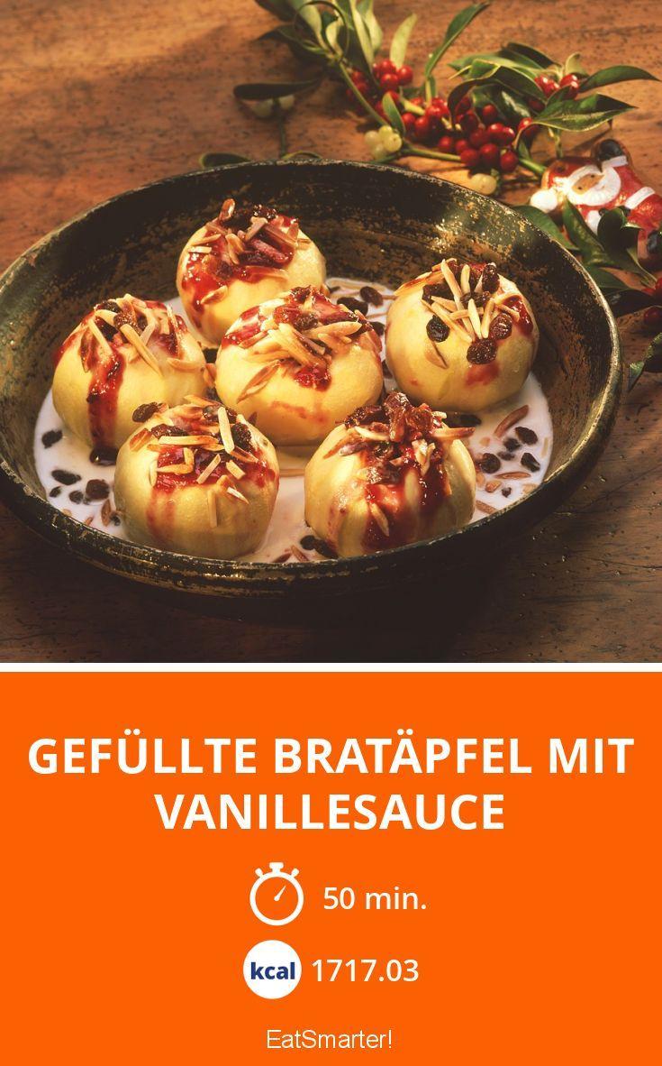 Gefüllte Bratäpfel mit Vanillesauce - smarter - Kalorien: 1717.03 Kcal - Zeit: 50 Min. | eatsmarter.de