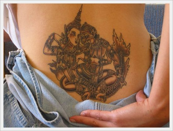 tribal back tattoos (38)