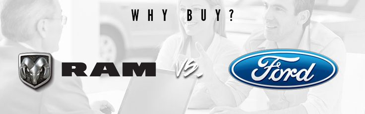 """Why Buy Ram vs. Ford?  Ford is always going on about how its trucks are """"Build Ford Tough."""" However, Ford wishes that its trucks were built RAM tough! When you compare the 2016 RAM 1500 to the 2016 Ford F-150, you will quickly discover that Ford's beloved truck doesn't quite compare to the RAM. The RAM 1500 has the superior efficiency, driving experience, and warranty."""