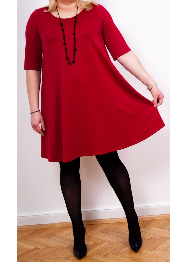 Dress Marta Red Wine - Plus Size, 40$/EUR + shipping cost