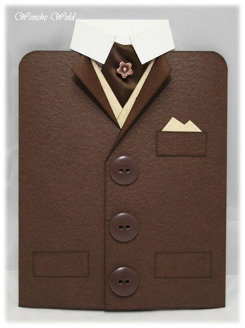 Hva passer vel bedre enn et jakkekort til en mann i sin beste alder, når enn det er ;) Jeg synes alltid det er vanskelig å lage kort til ...